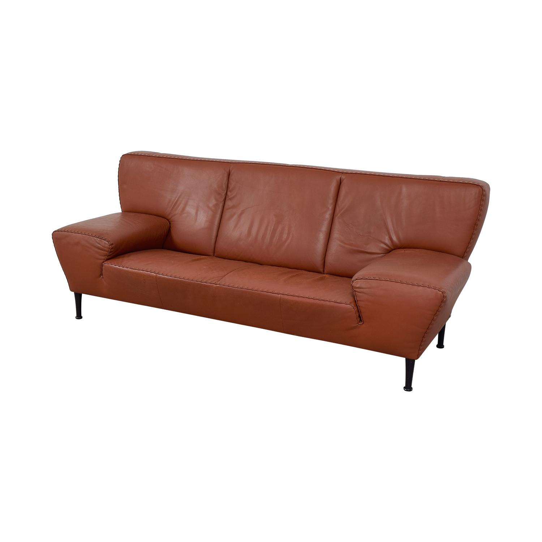 90 off de sede de sede paprika leather ribbon detailed sofa sofas. Black Bedroom Furniture Sets. Home Design Ideas