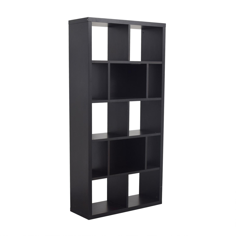 West Elm West Elm Black Bookshelf dimensions