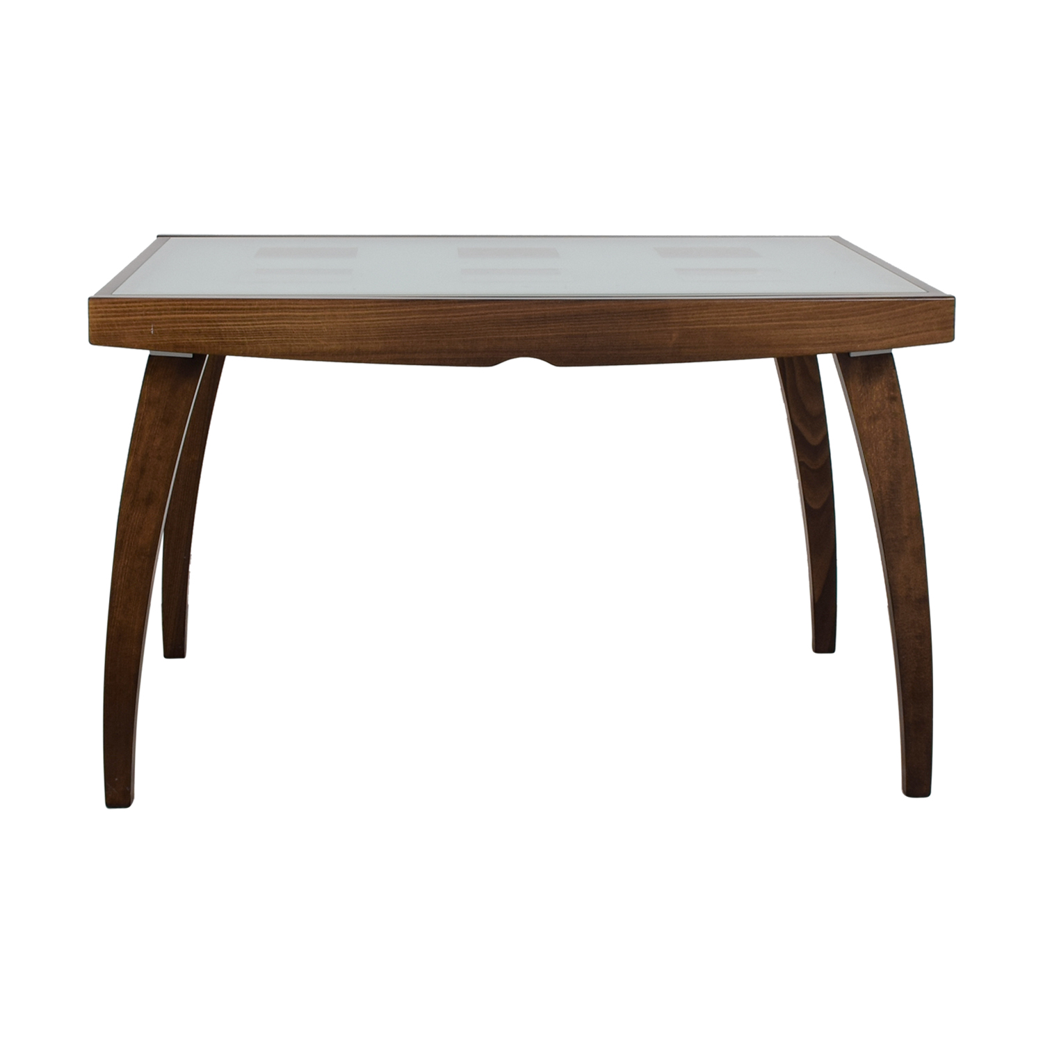 Calligaris Calligaris Two-Toned Frosted Glass Expandable Dining Table for sale