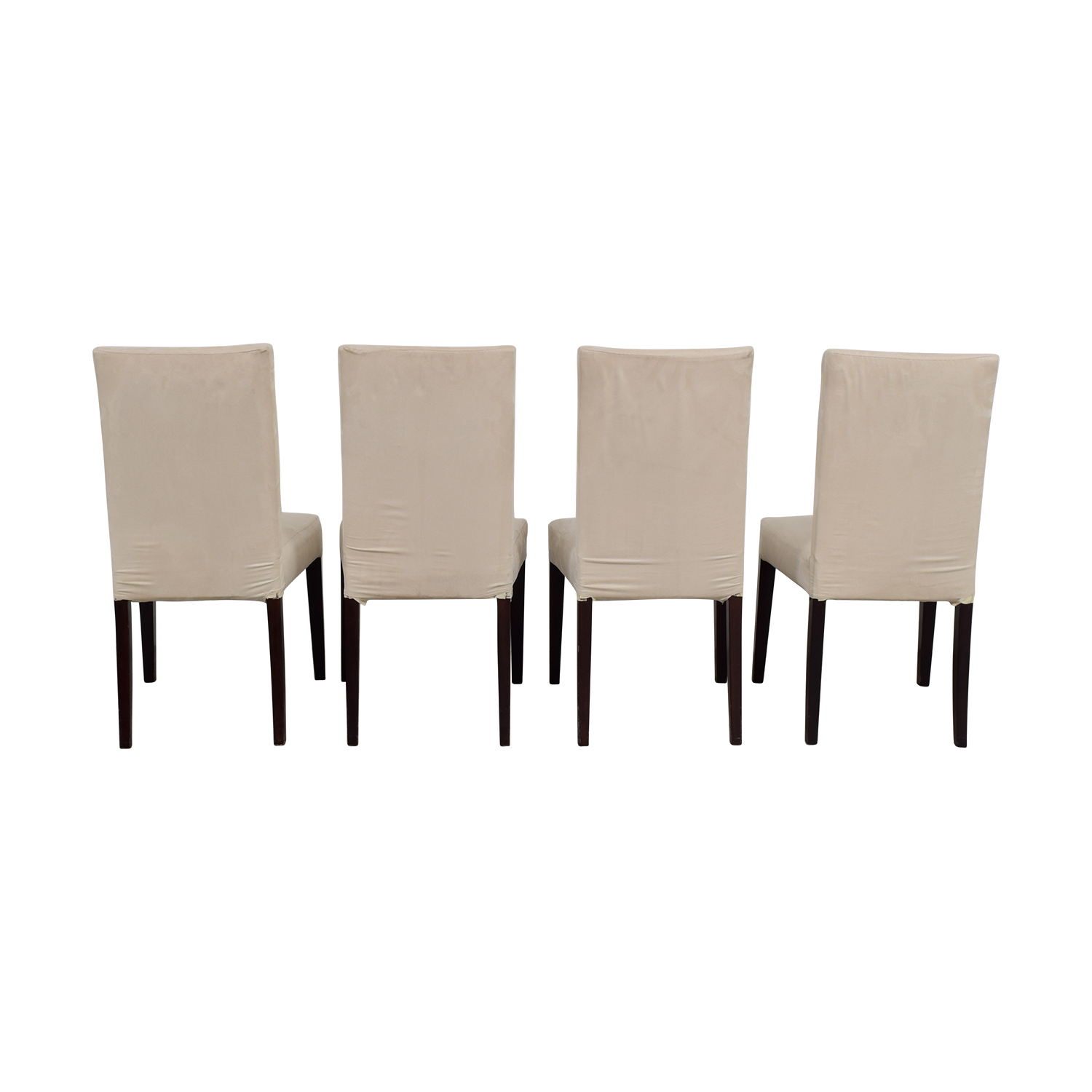 Off White Slip Covered Dining Chairs OFF WHITE