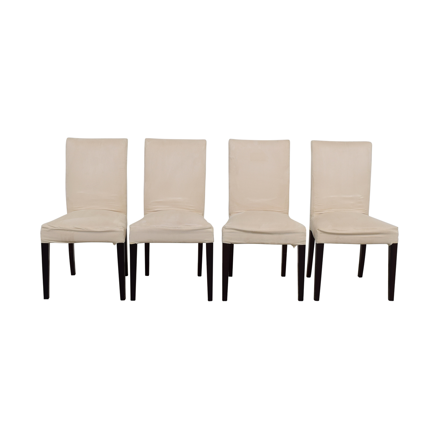 Off White Slip Covered Dining Chairs nyc