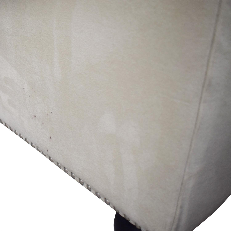 Chesterfield Style Tufted Beige Velvet Sofa / Sofas