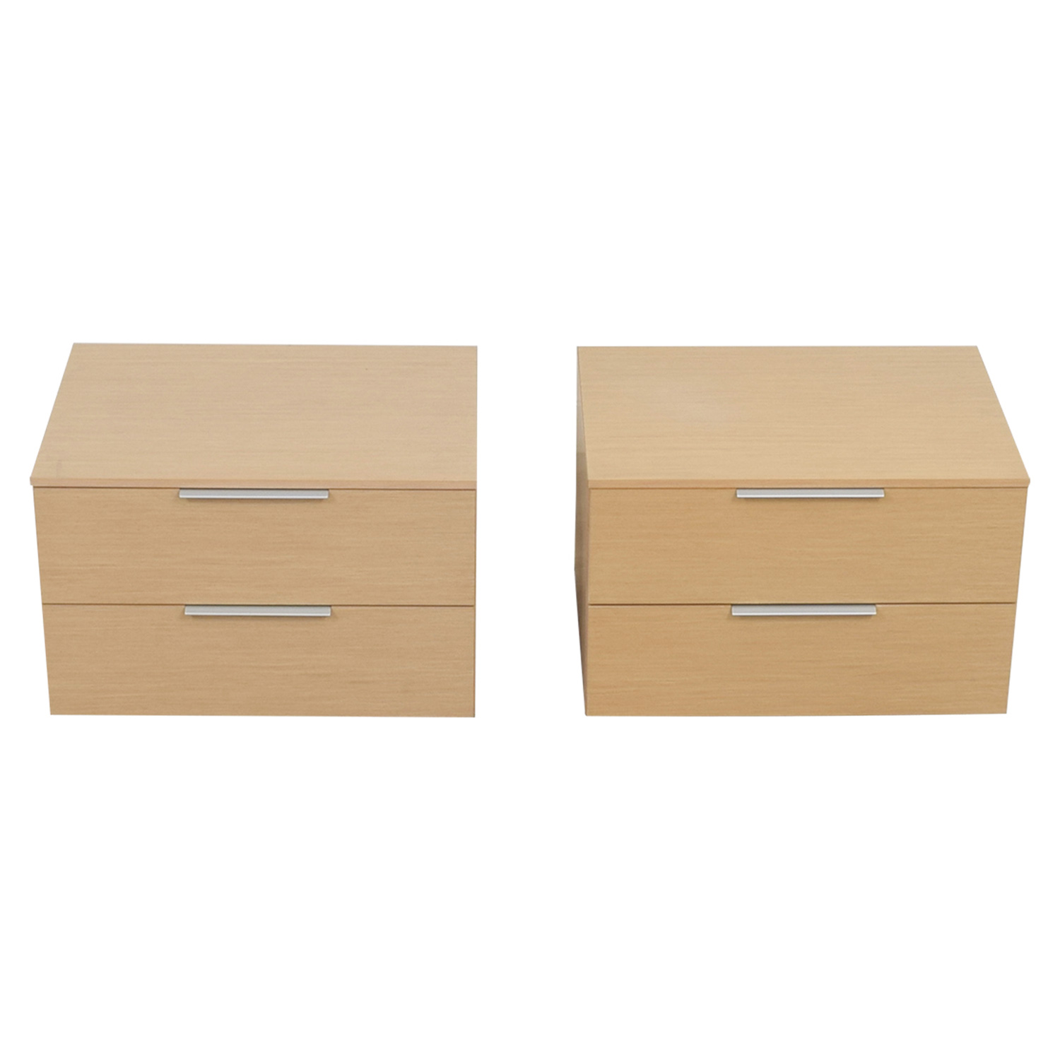 shop Jesse Natural Low Two-Drawer Night Stands Jesse