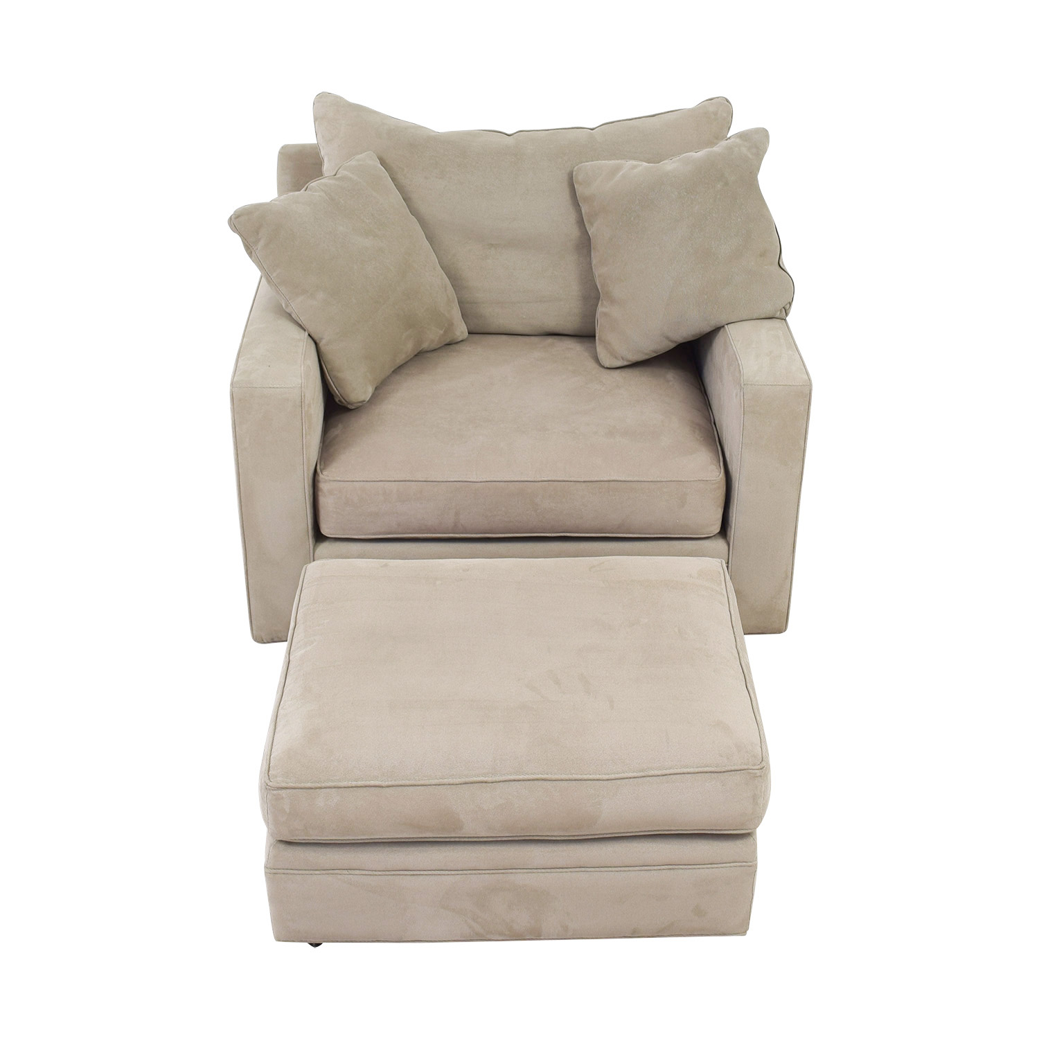 Room & Board Room & Board Metro Grey Accent Chair and Ottoman grey