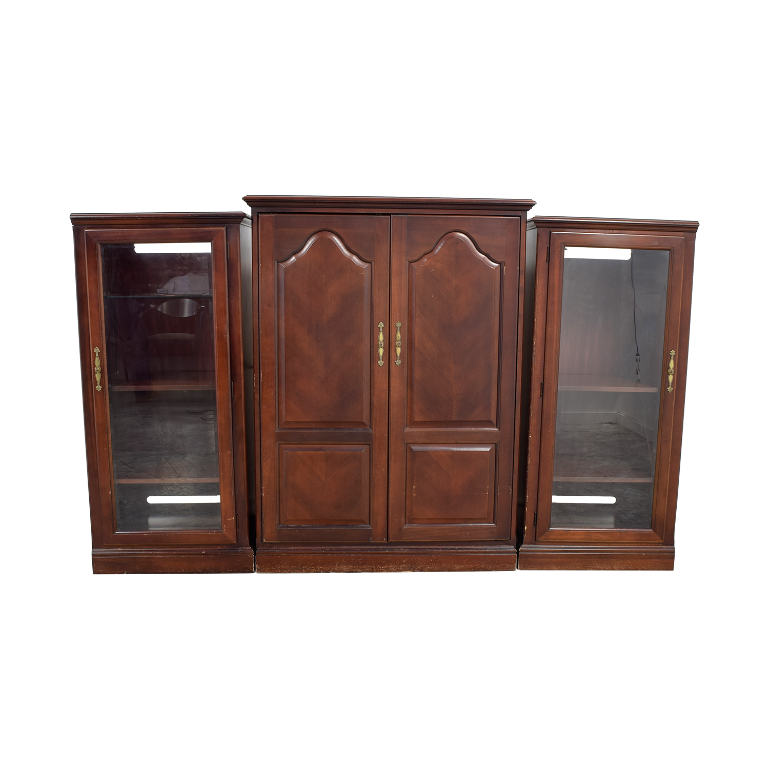 shop Thomasville Wood Three-Piece Entertainment Center Thomasville