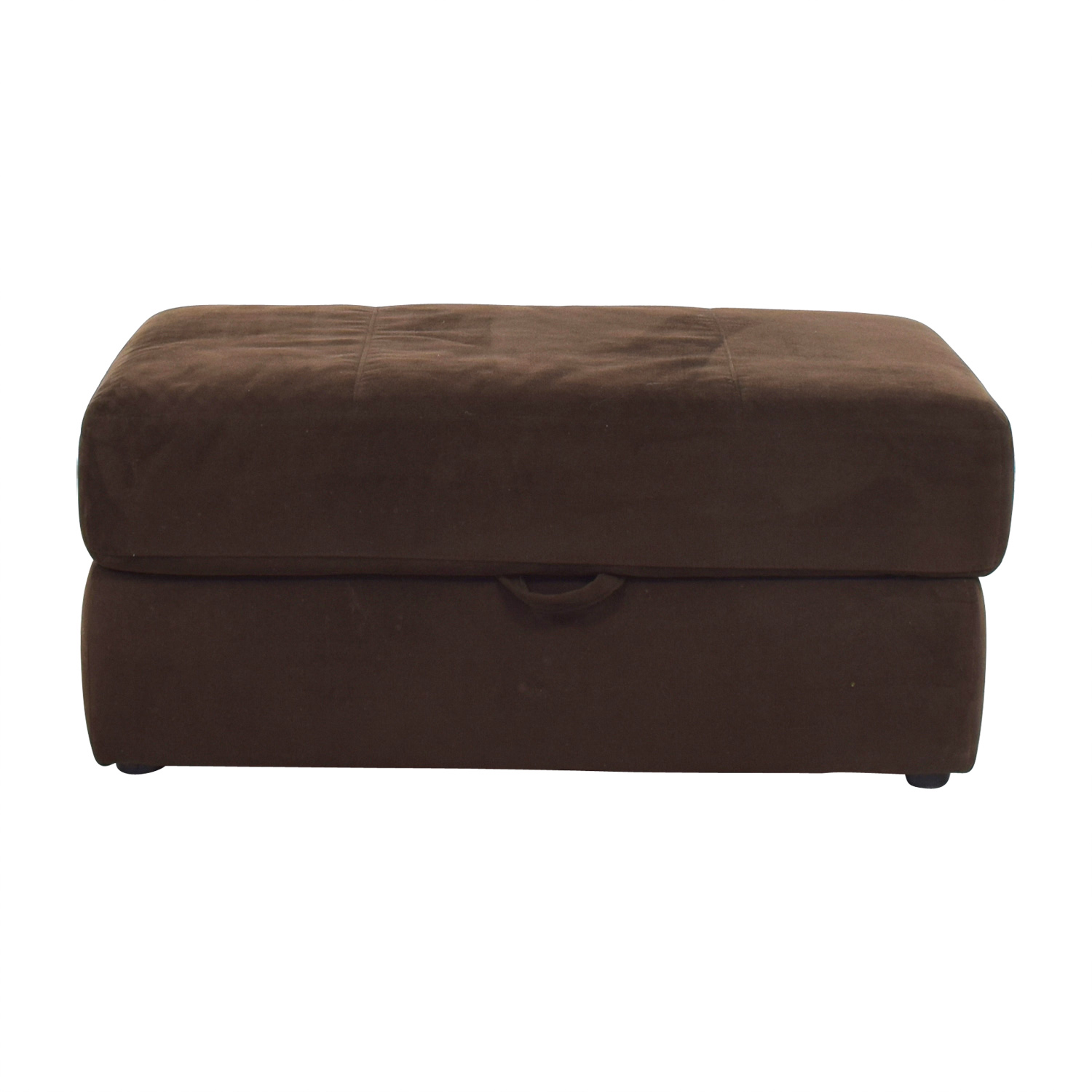 87 OFF Bobs Furniture Bobs Furniture Brown Storage Ottoman