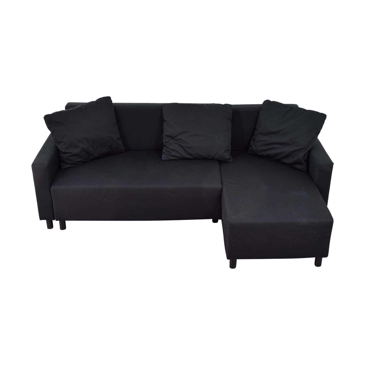 shop IKEA Black Sleeper Chaise Sectional with Storage IKEA Sofas