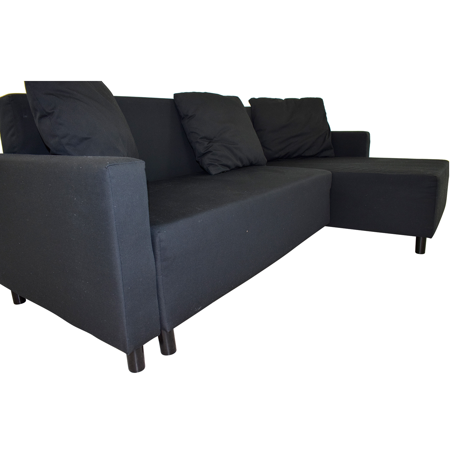 Excellent 31 Off Ikea Ikea Black Sleeper Chaise Sectional With Storage Sofas Onthecornerstone Fun Painted Chair Ideas Images Onthecornerstoneorg
