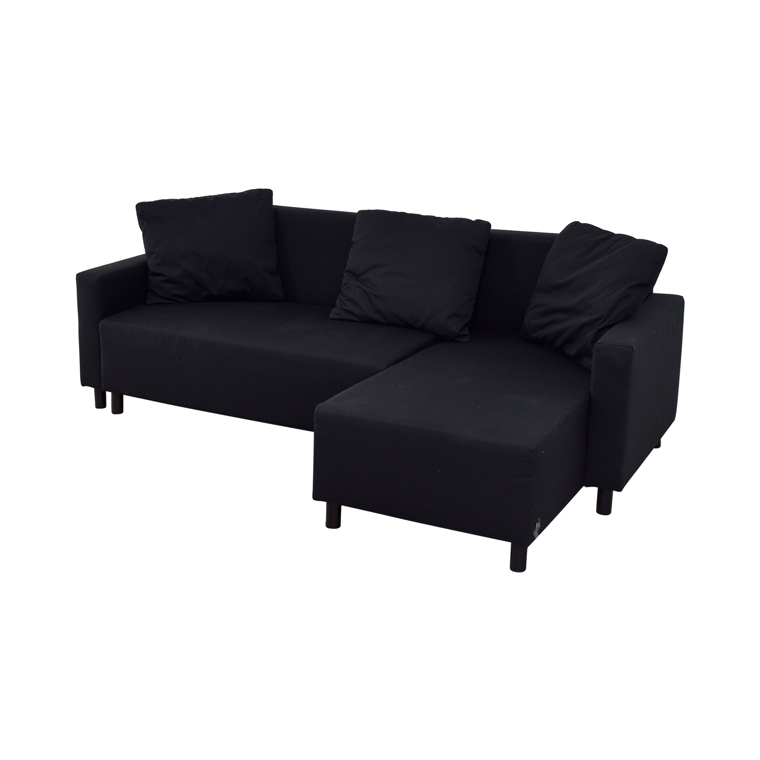 31 Off Ikea Ikea Black Sleeper Chaise Sectional With Storage