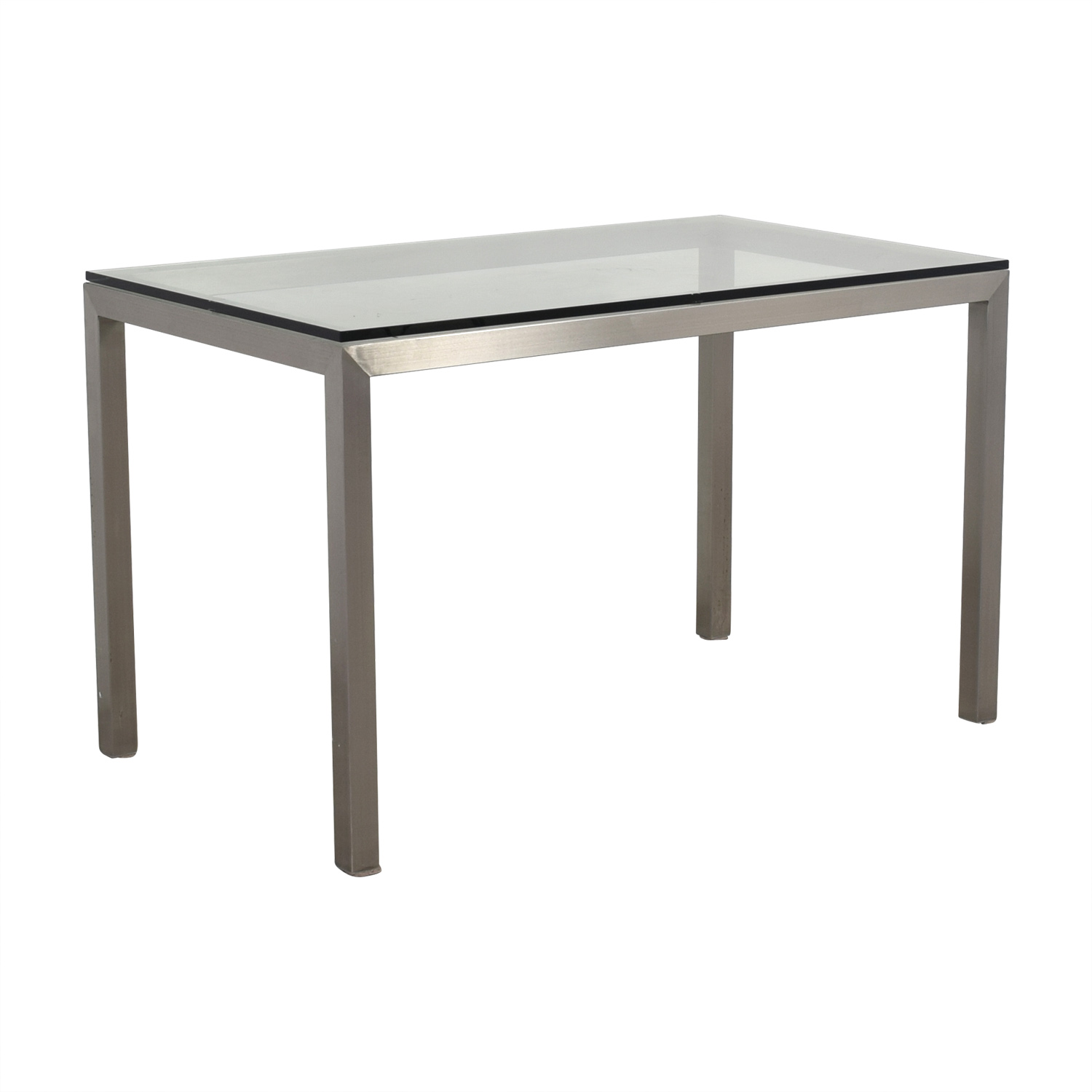 Crate & Barrel Crate & Barrel Glass and Stainless Steel Dining Table second hand