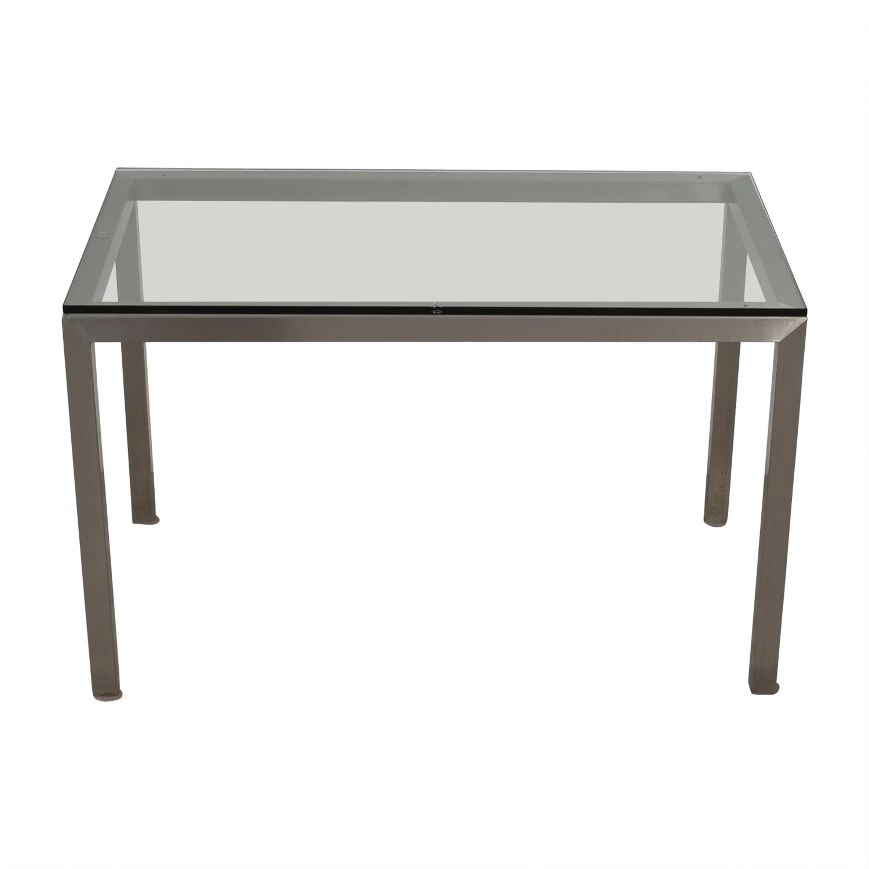 42% OFF - Crate & Barrel Crate & Barrel Glass and ...