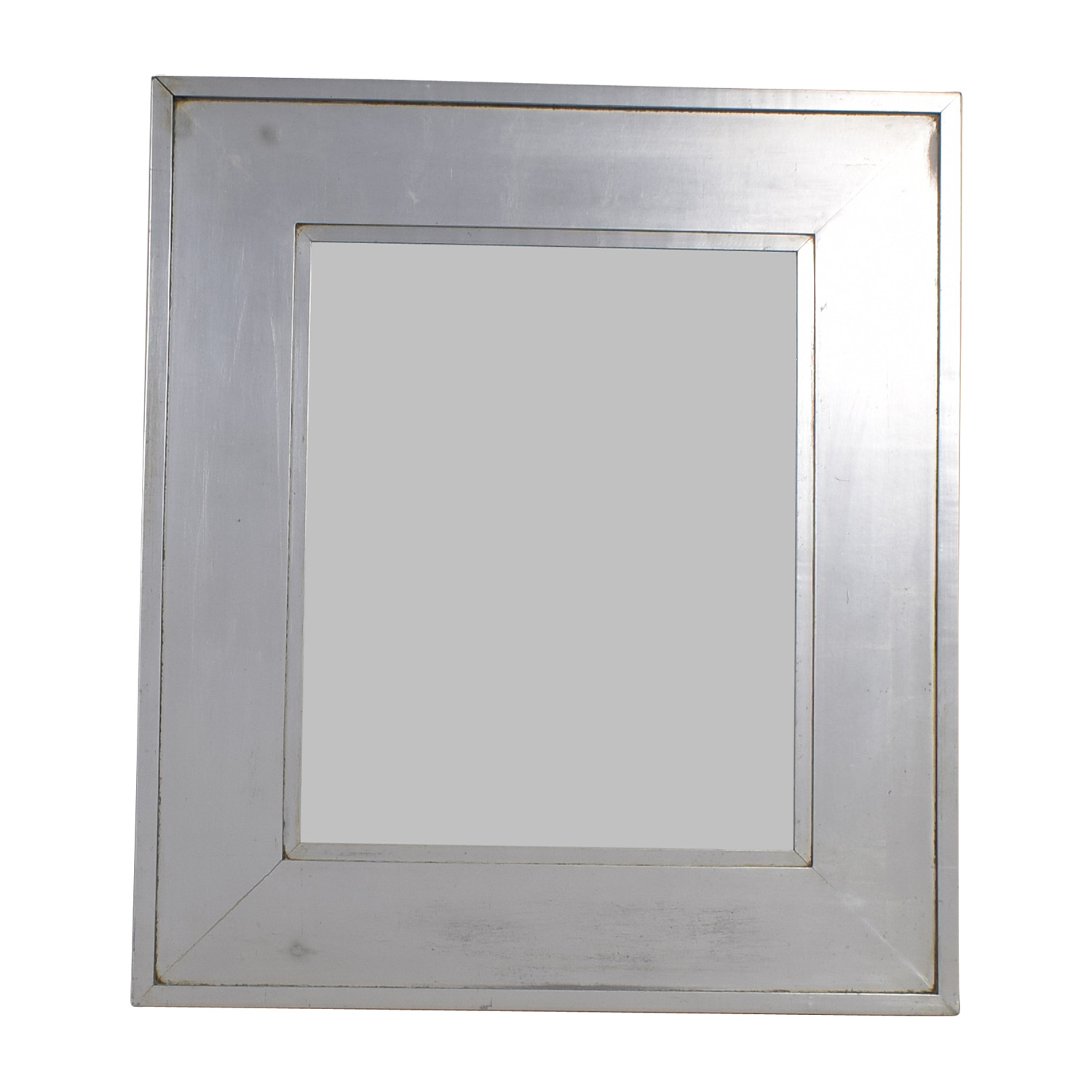 Crate & Barrel Crate & Barrel Silver Frames Square Mirror for sale