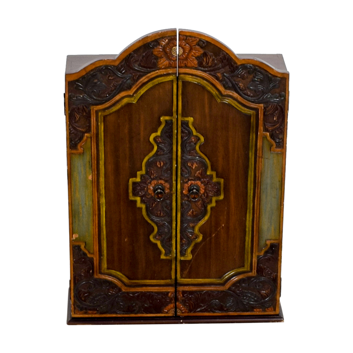 Pier 1 Imports Pier 1 Imports Carved Wood Jewelry Cabinet used
