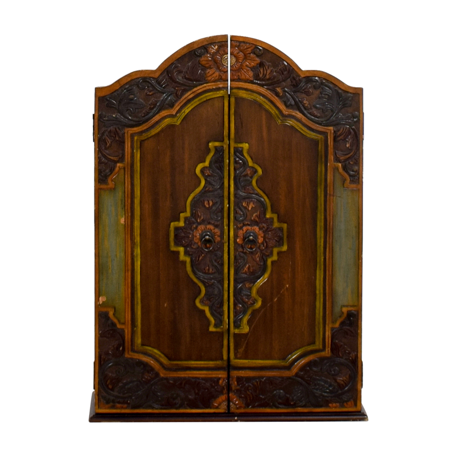 Pier 1 Imports Pier 1 Imports Carved Wood Jewelry Cabinet on sale