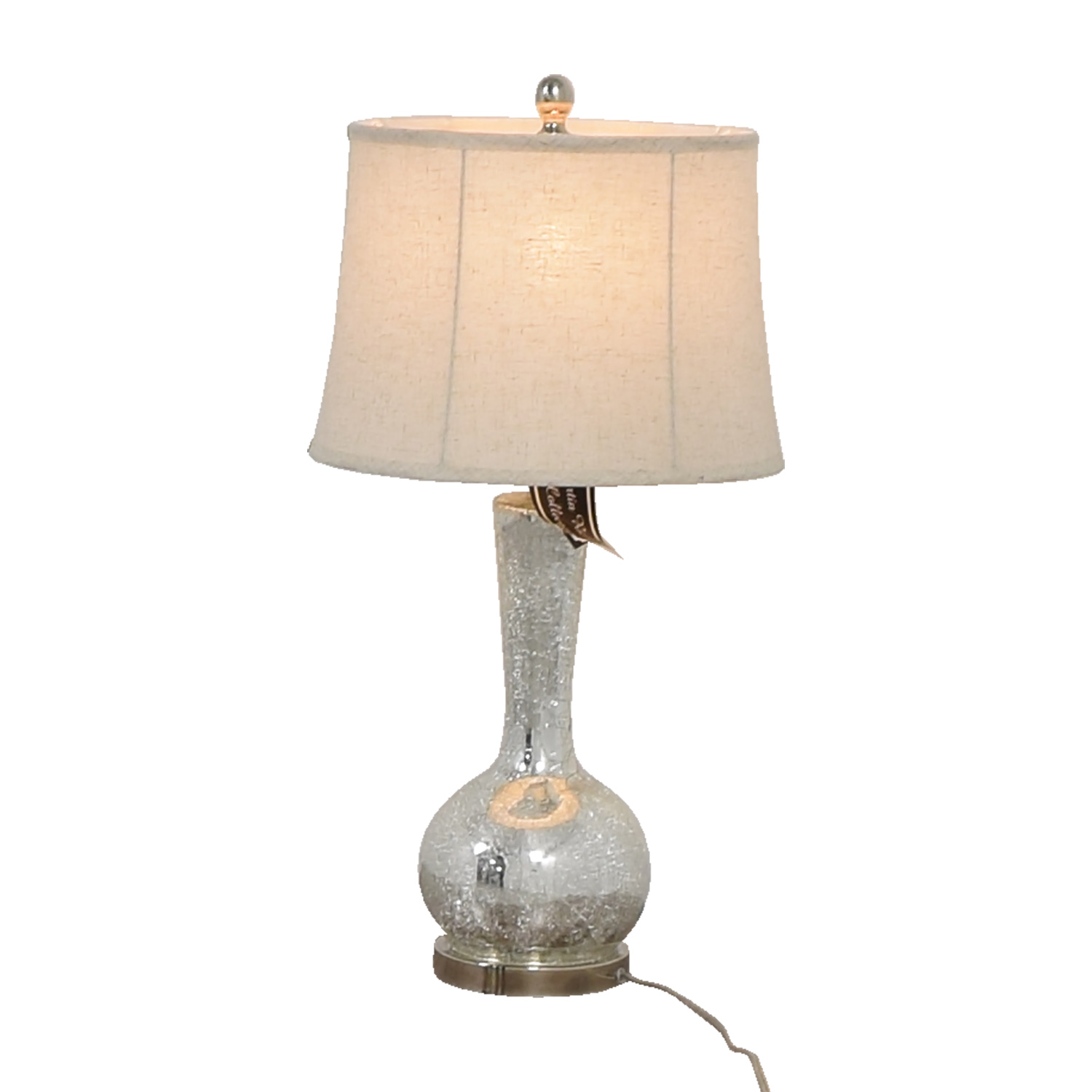 ... Martin Richards Crackle Glass Table Lamp / Decor ...