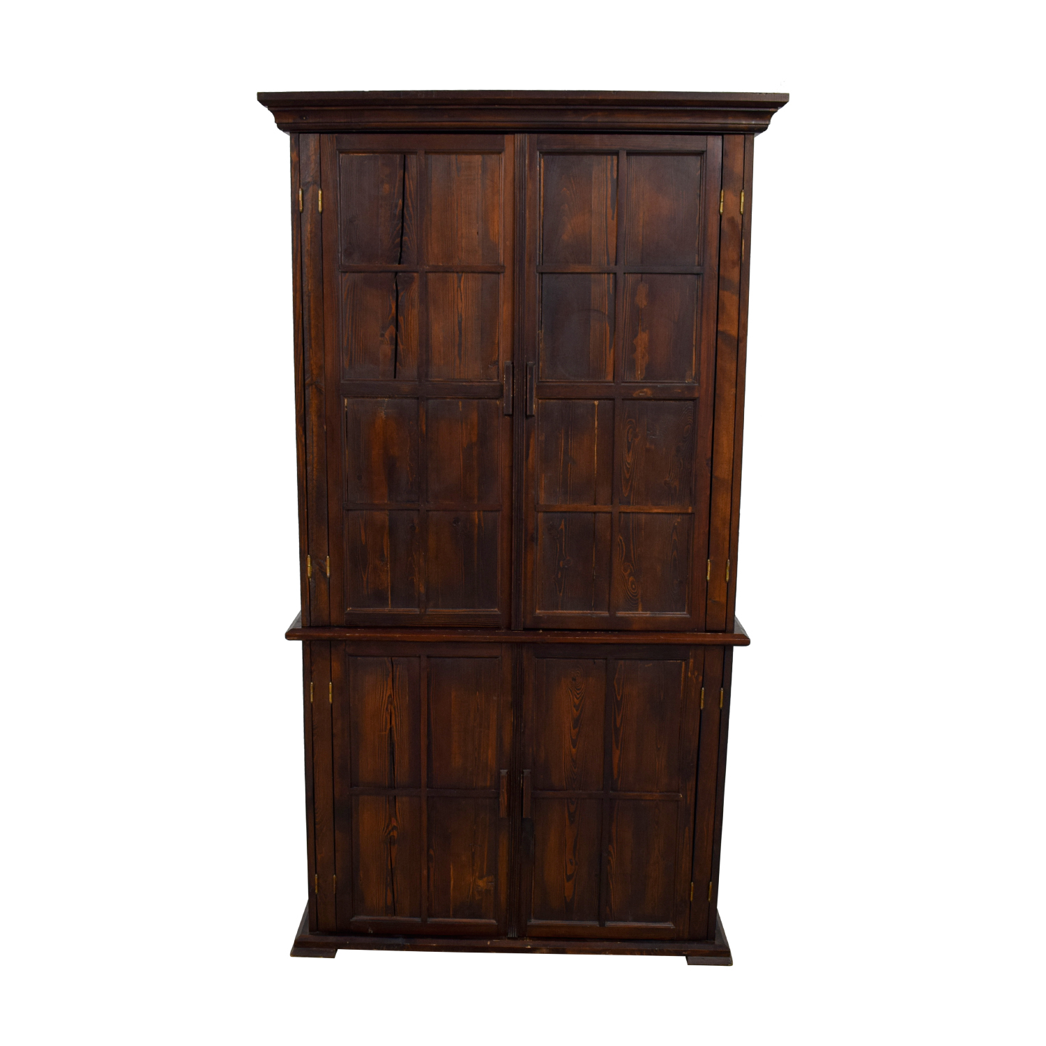 Wood Armoire with Interior Shelving discount