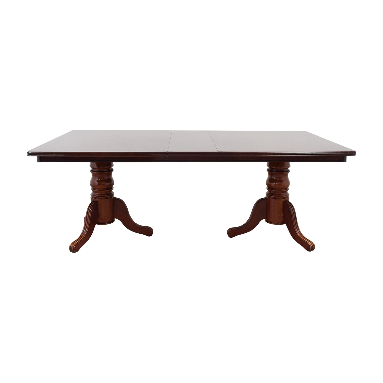Antique Rectangle Dining Table with Two Leaves for sale