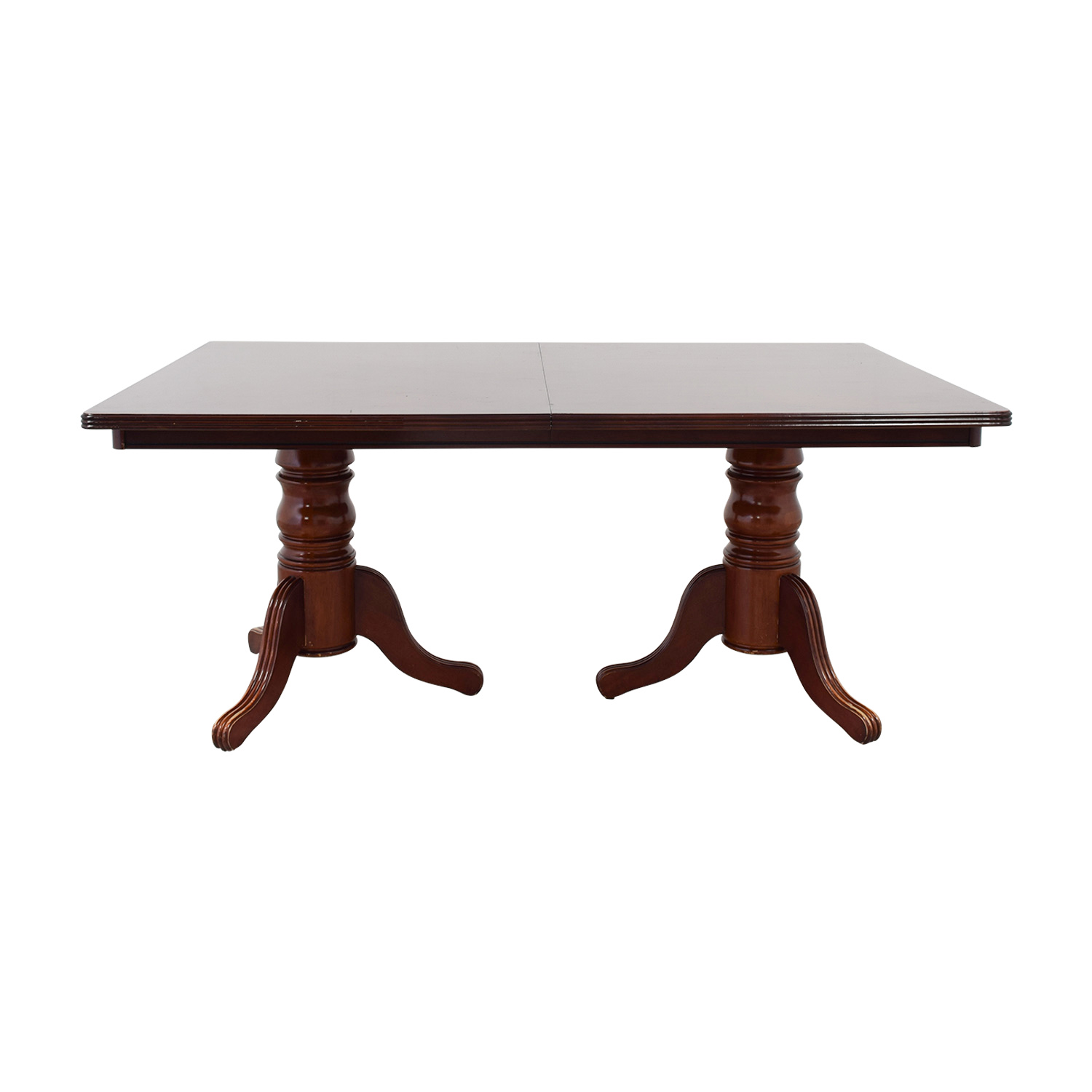 buy Antique Rectangle Dining Table with Two Leaves  Dinner Tables
