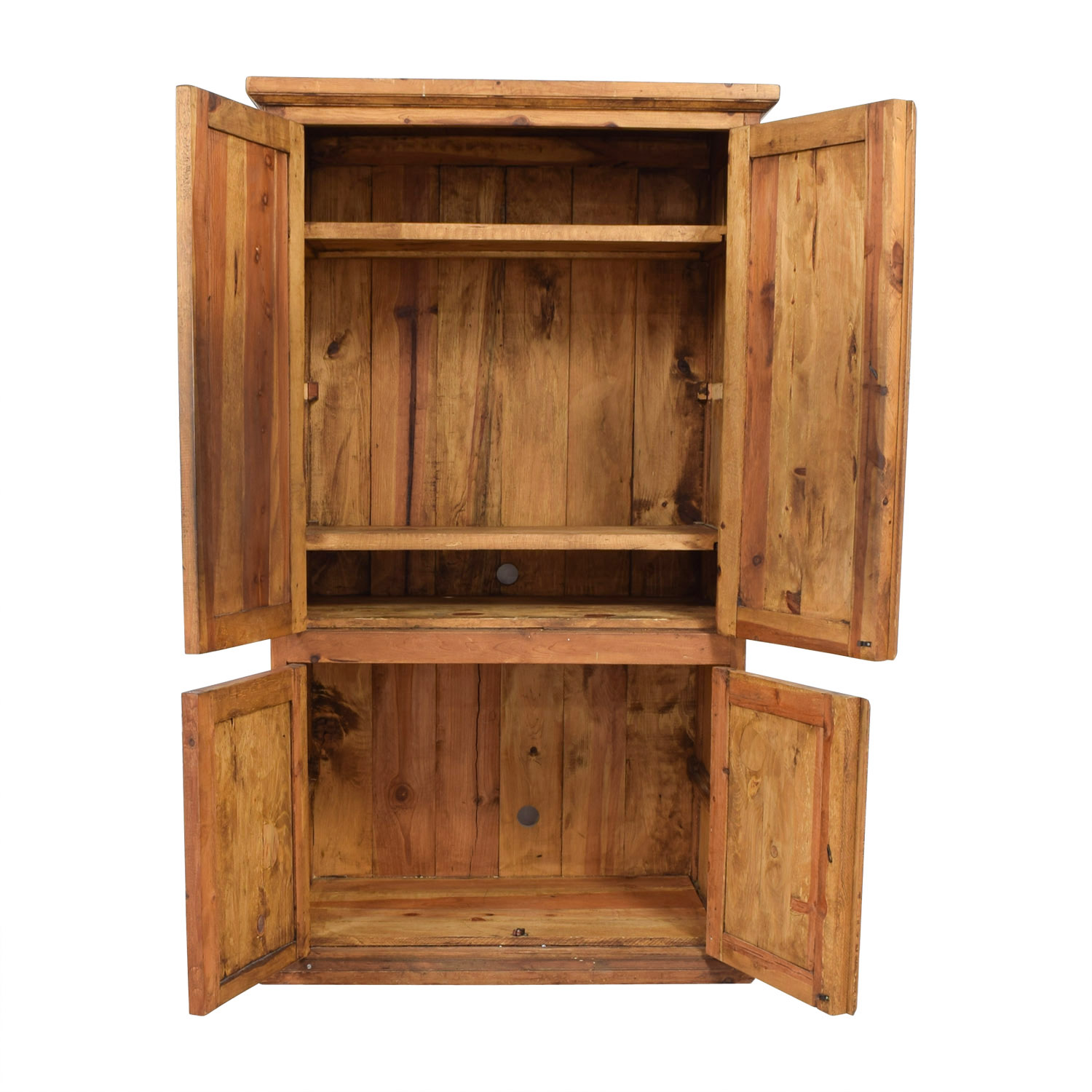 Farmhouse Style Wood Media Storage Armoire