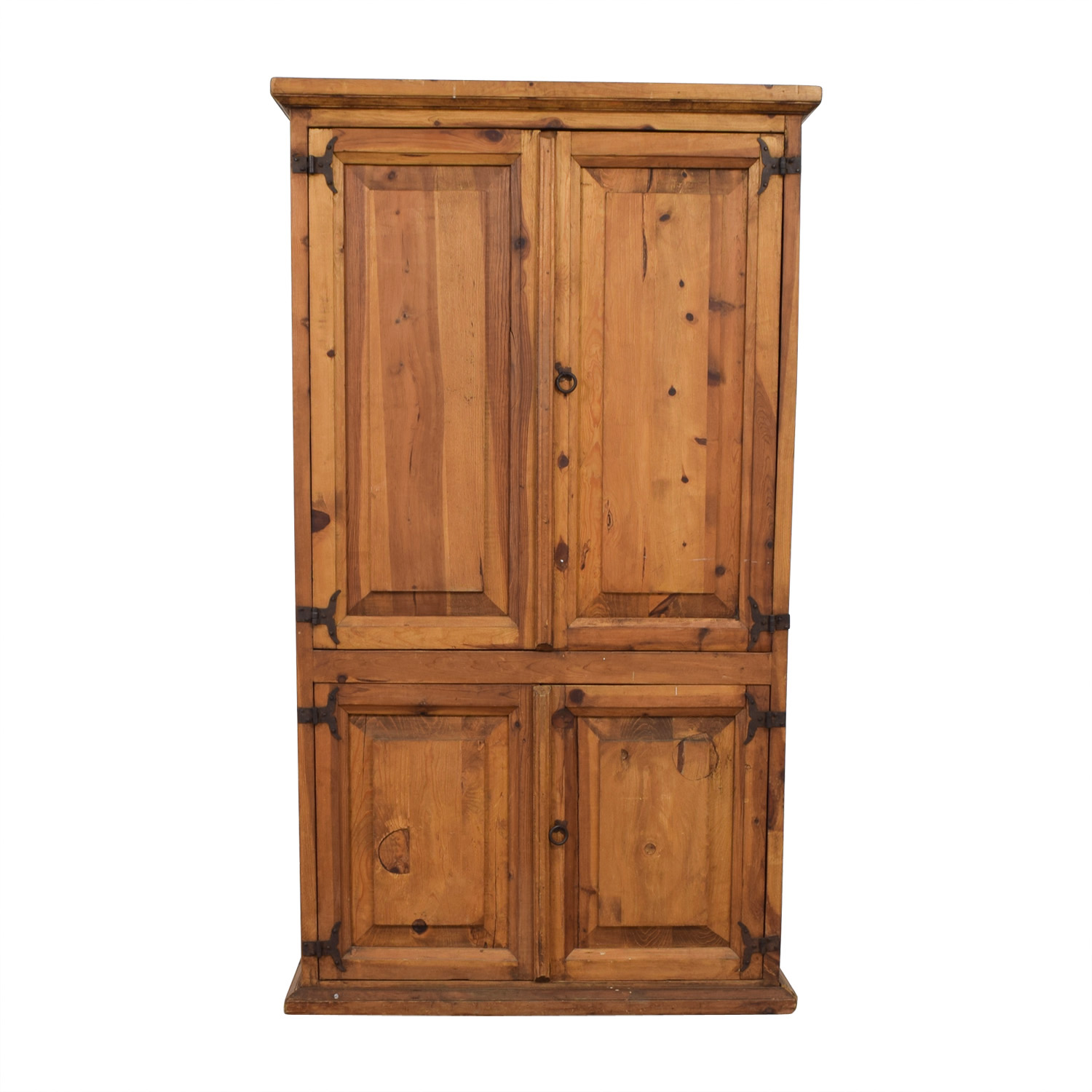 shop Farmhouse Style Wood Media Storage Armoire  Media Units
