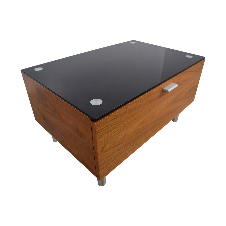 Jensen Lewis Wood Media Table / Storage