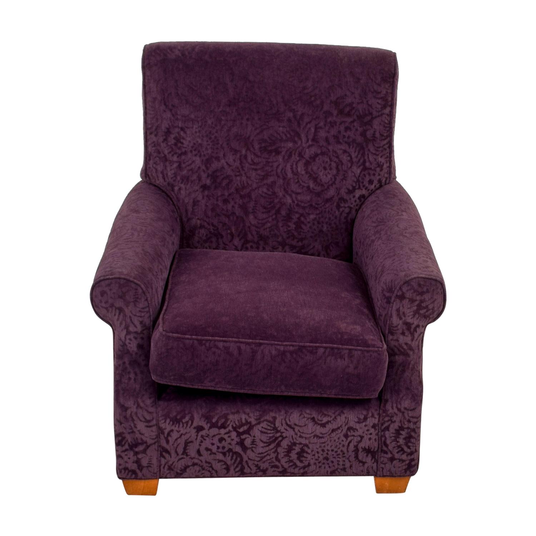 shop Plush Violet Accent Armchair Chairs