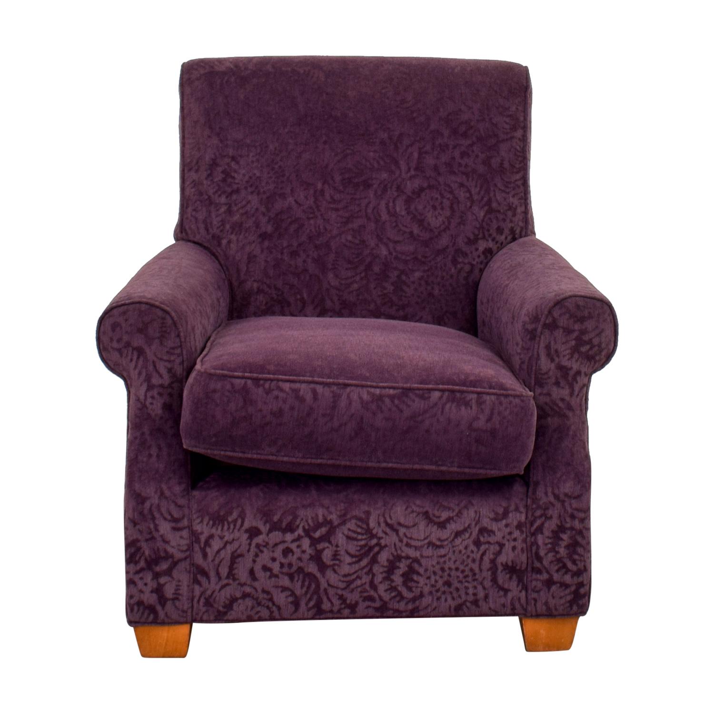 Plush Violet Accent Armchair
