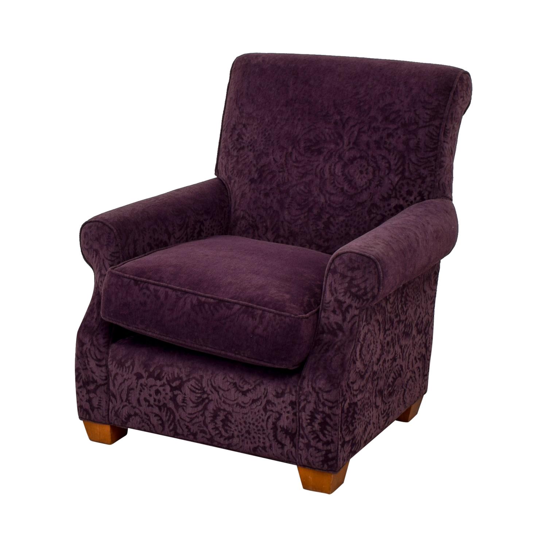 Attractive ... Plush Violet Accent Armchair ...
