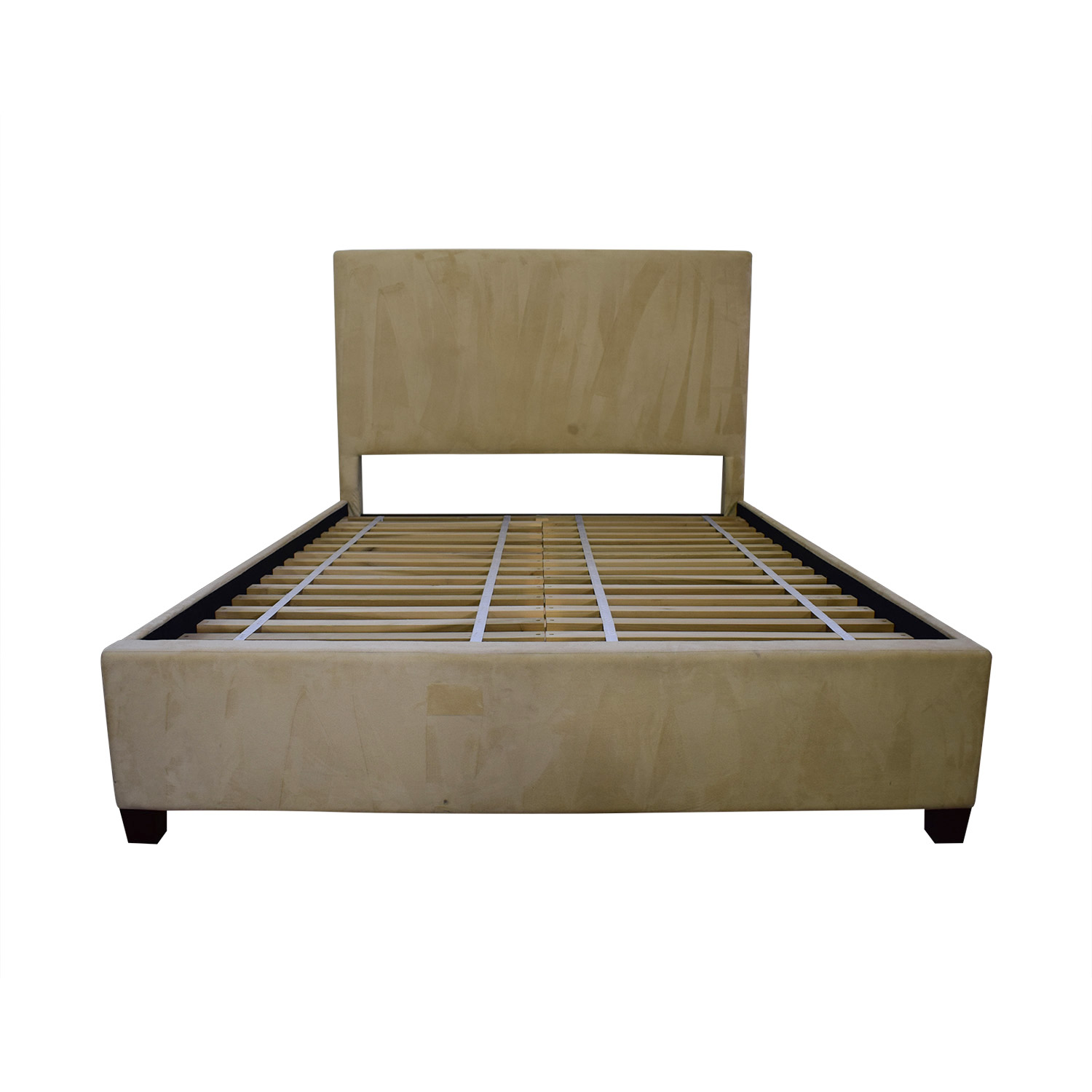 Pottery Barn Pottery Barn Beige Twill Full Platform Bed Frame used