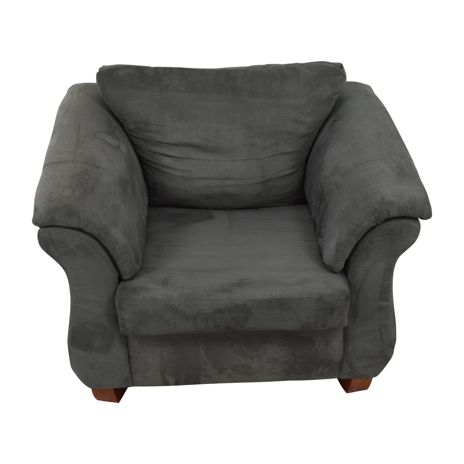 90 Off Value City Furniture Grey Loveseat Accent Chair Sofas