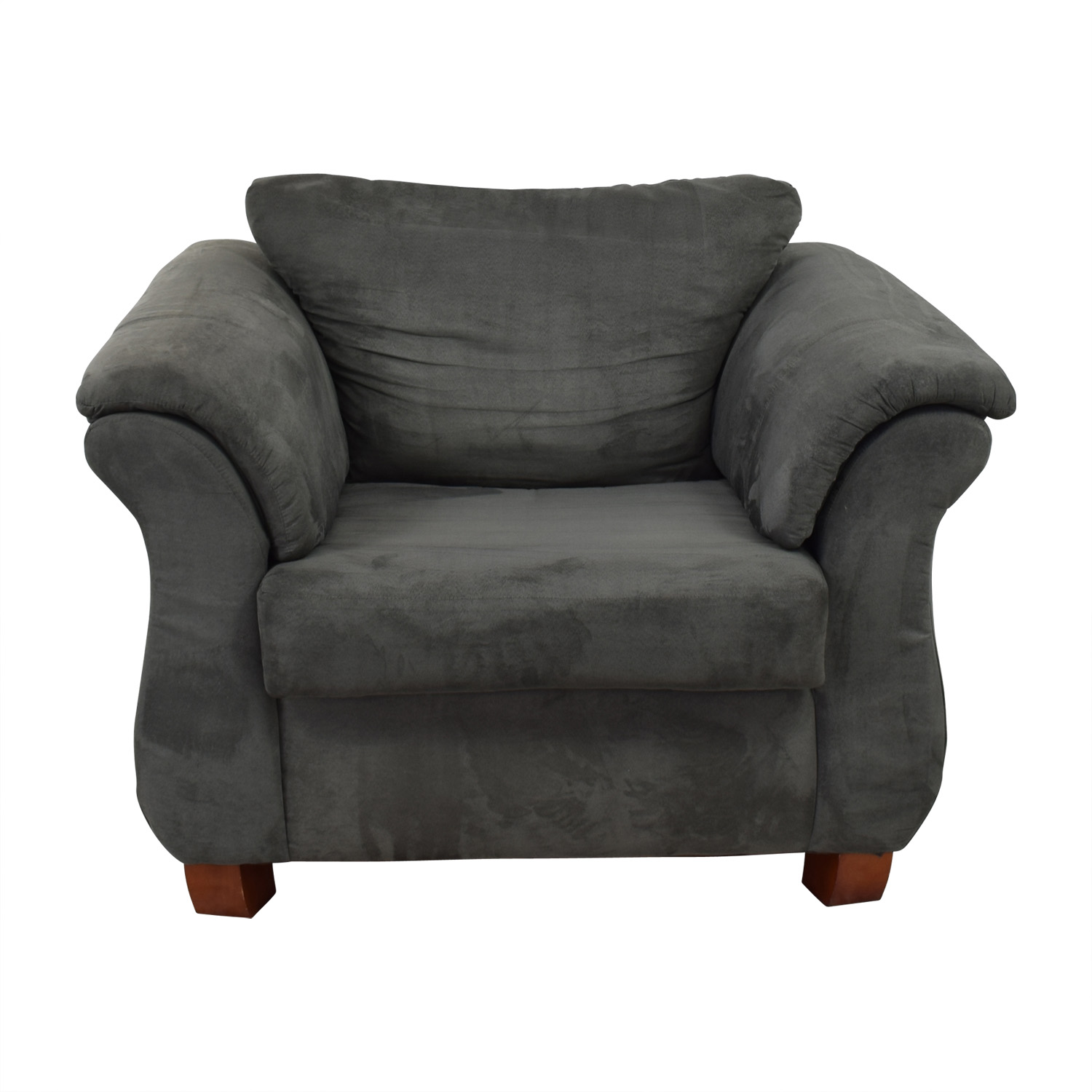 Value City Furniture Grey Loveseat Accent Chair Loveseats