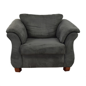 Value City Furniture Grey Loveseat Accent Chair second hand