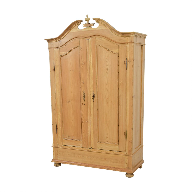 86 Off Antique Pine Armoire Storage