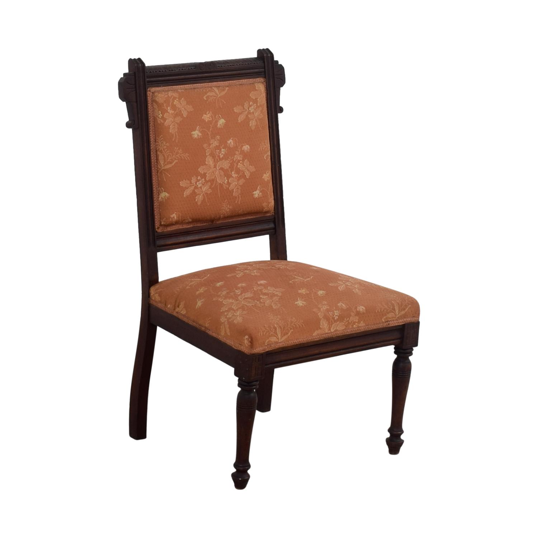 ... shop Antique Paprika Eastlake Accent Chair online ... - 90% OFF - Antique Paprika Eastlake Accent Chair / Chairs