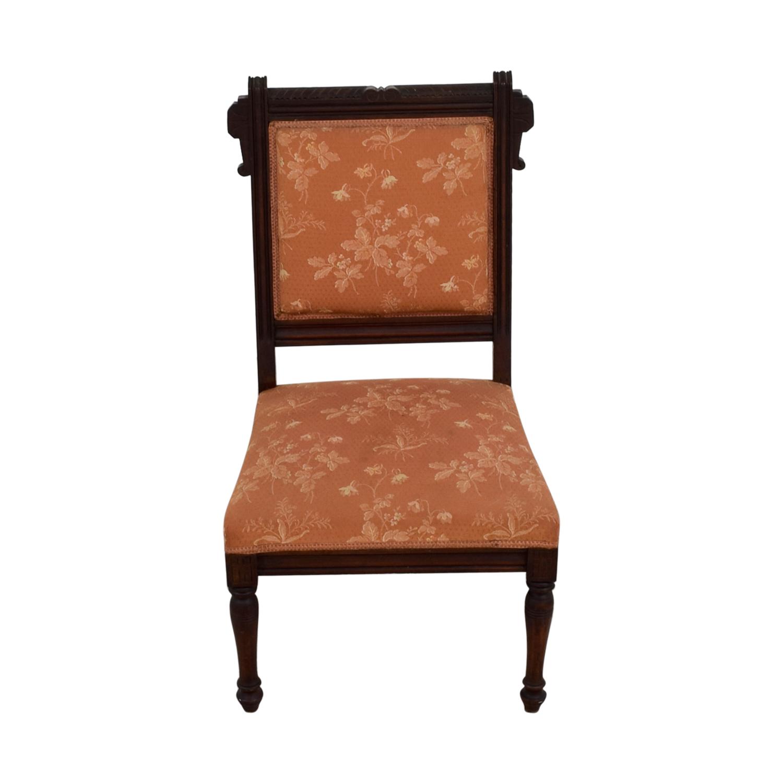 shop Antique Paprika Eastlake Accent Chair