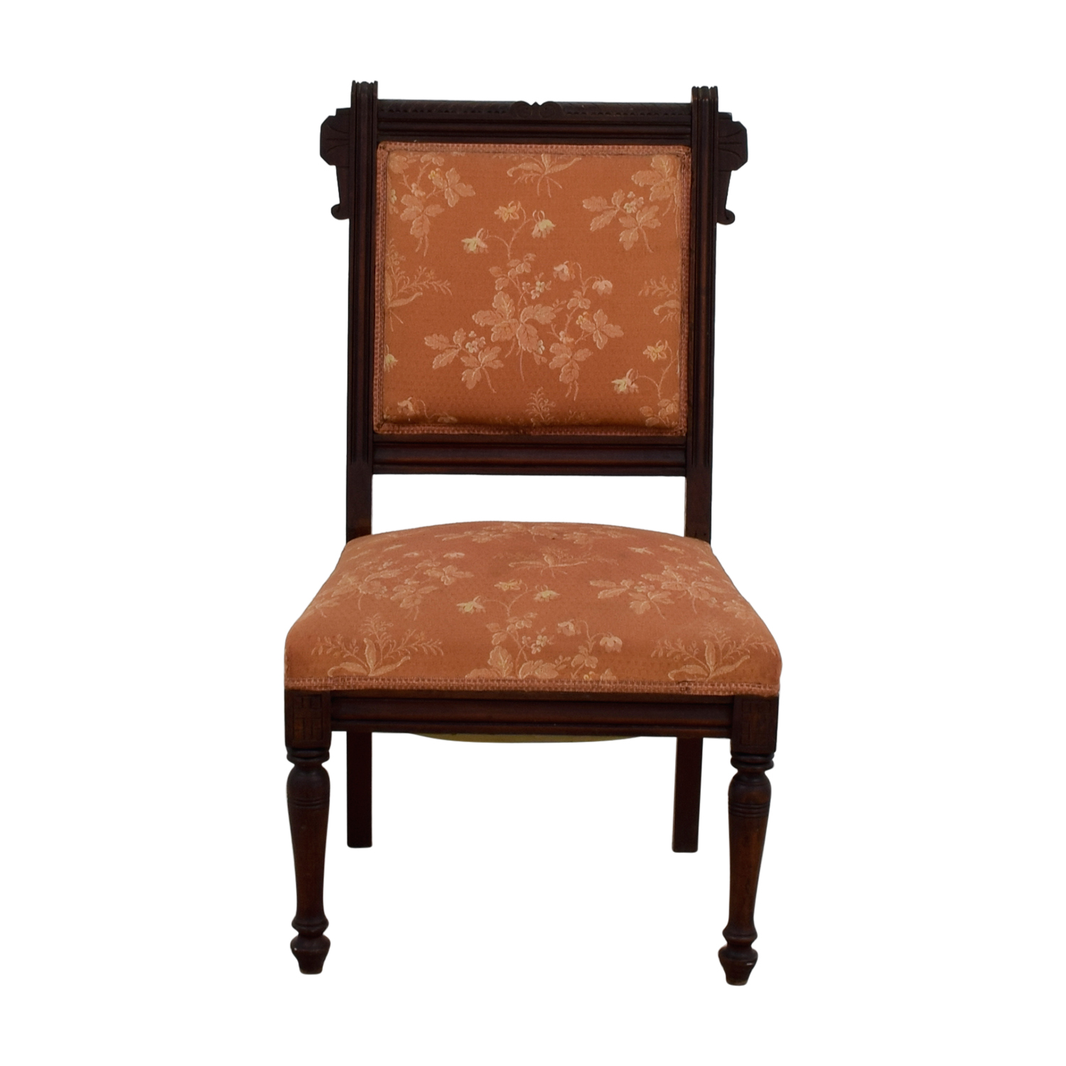 shop Antique Paprika Eastlake Accent Chair  Accent Chairs