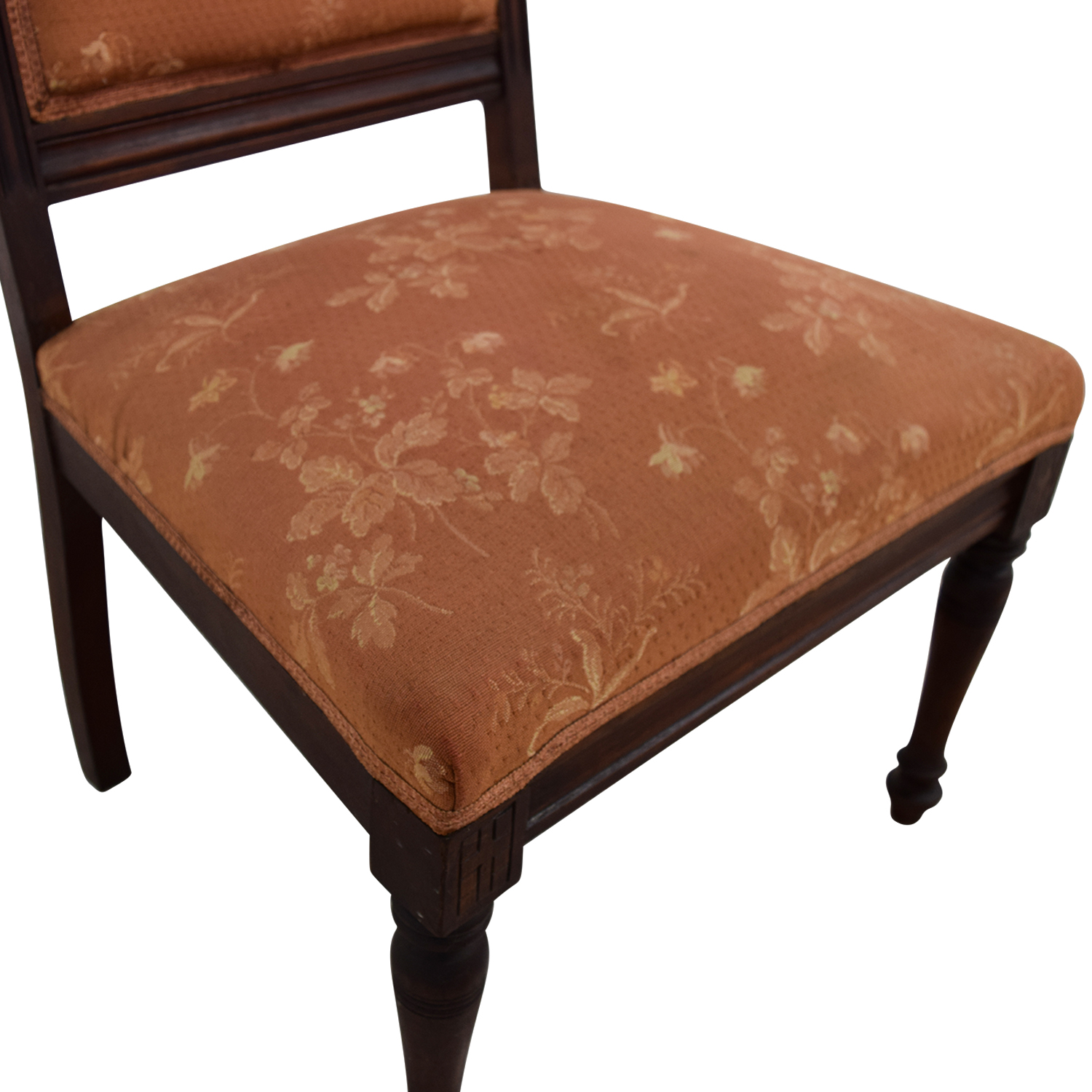 Antique Paprika Eastlake Accent Chair / Chairs