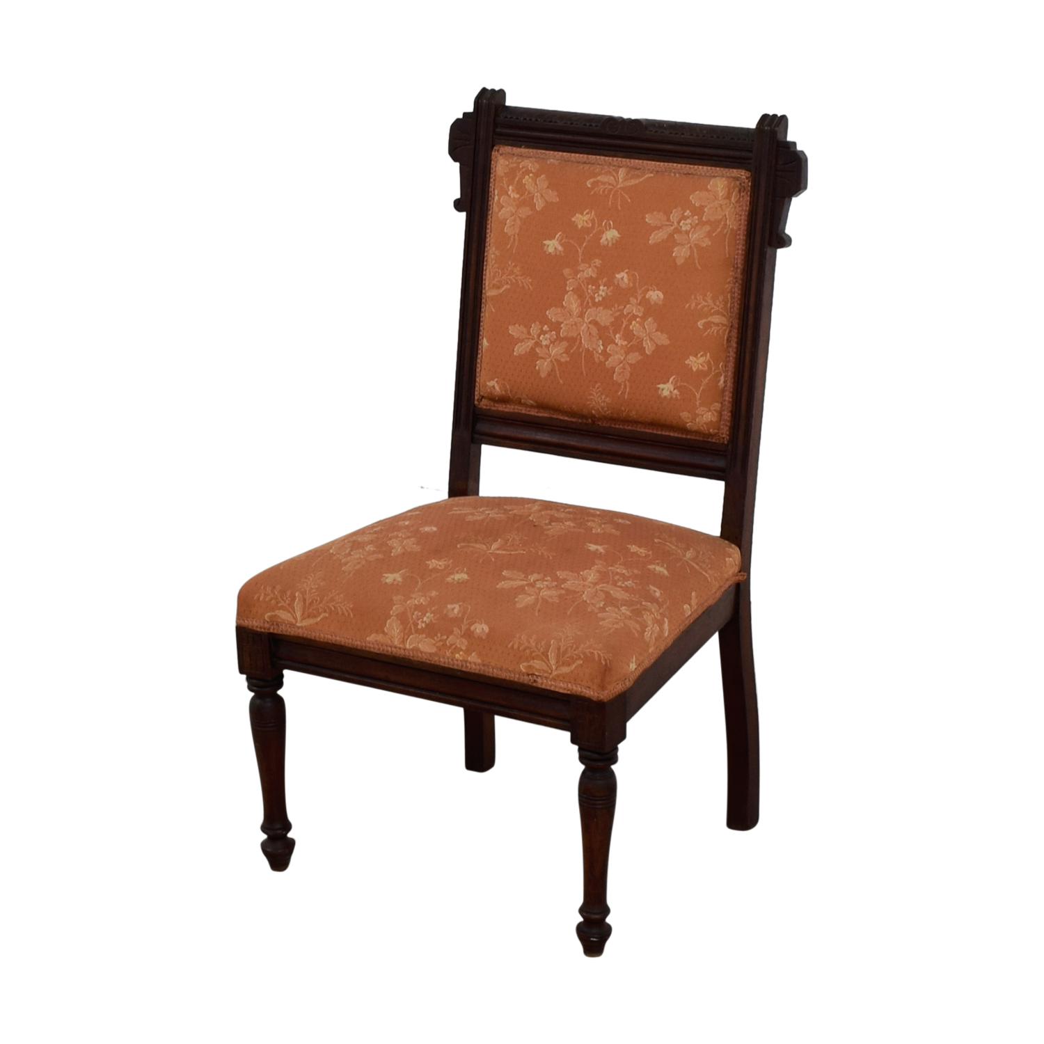 Antique Paprika Eastlake Accent Chair used