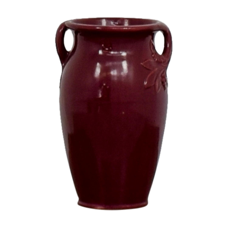 Burgundy Ceramic Vase BURGUNDY