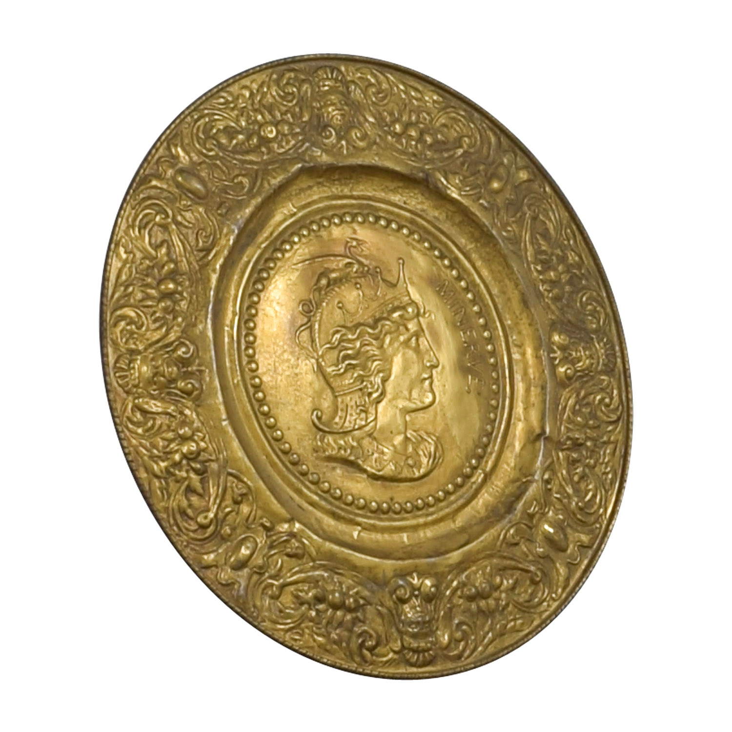Minerva Antique Gold Shield