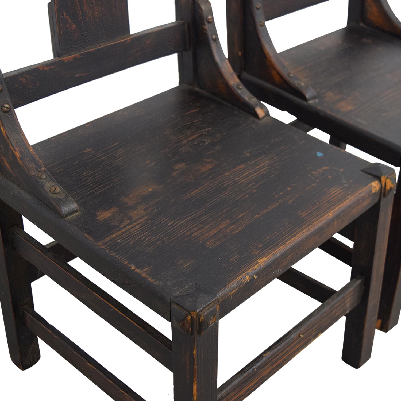 Antique Mission Child Chairs sale