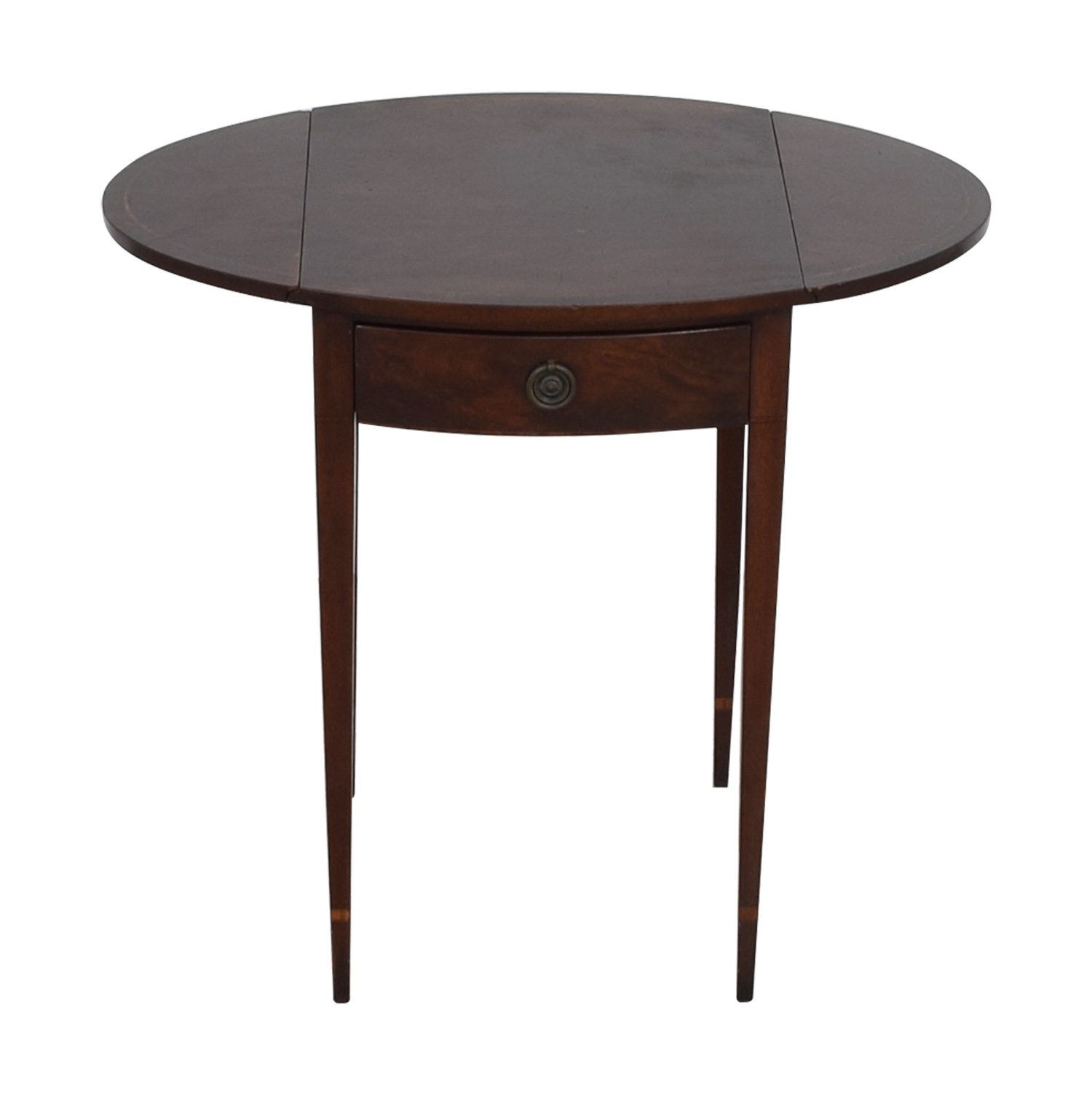 Beacon Hill Collection Antique Expandable Single-Drawer Side Table / Accent Tables