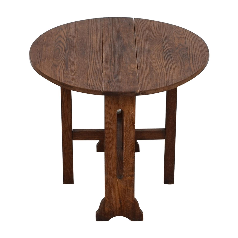 shop Antique Expandable Mission Coffee Table