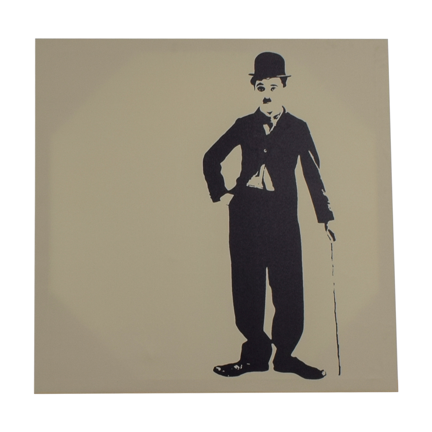 Charlie Chaplin Wall Art gray and black