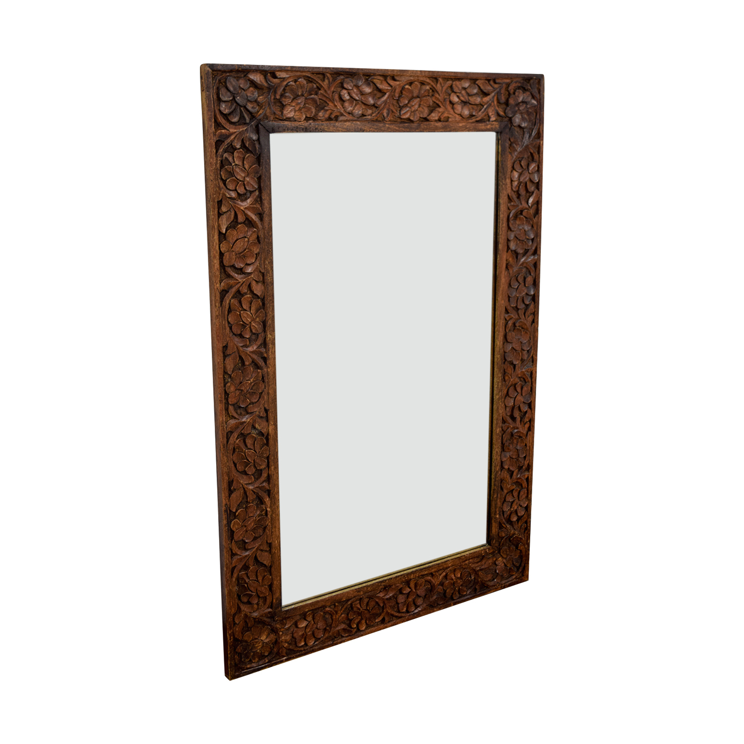 Floral Carved Wooden Mirror nyc