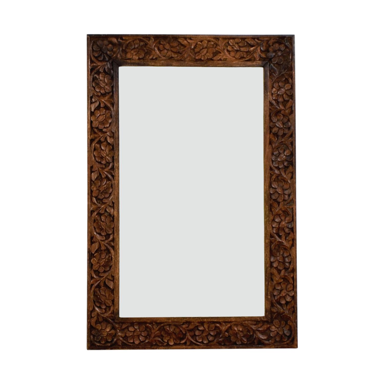 buy  Floral Carved Wooden Mirror online