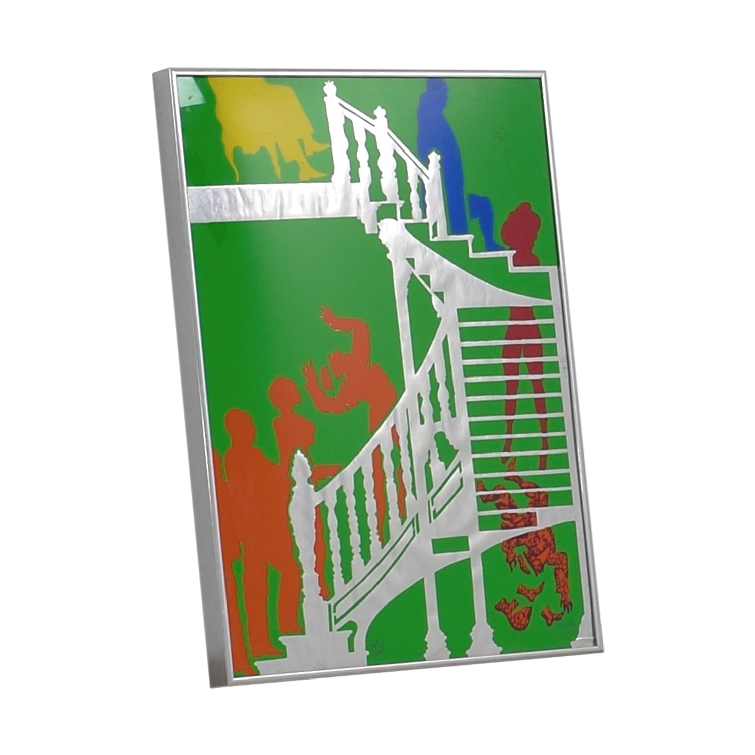 People in Staircase Framed Wall Art nj