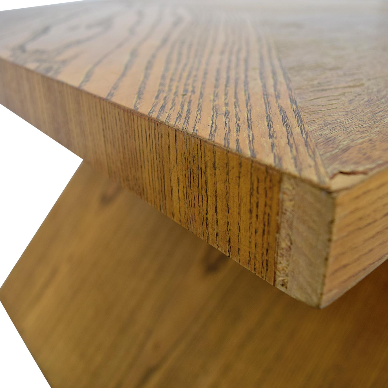 Lane Furniture Lane Furniture Solid Oak Z-Shaped End Table WOOD