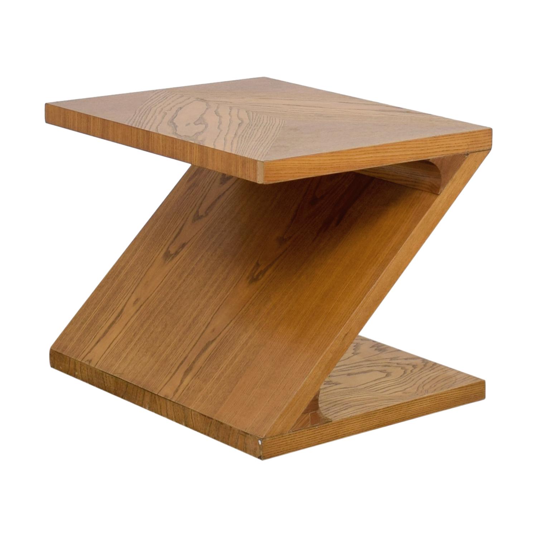 Lane Furniture Lane Furniture Solid Oak Z-Shaped End Table on sale