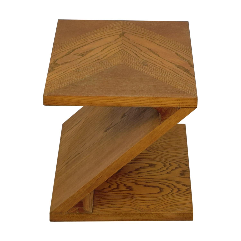 Lane Furniture Lane Furniture Solid Oak Z-Shaped End Table End Tables